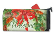 Holiday Wreath Magnetic Mailbox Cover