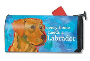 Mailwraps Yellow Lab Dog Magnetic Mailbox Cover