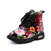 erthome Girls Fashion Floral Kids Shoes Baby Martin Boots Casual Children Boots Winter