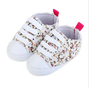 jileSM Baby Girls Fashion Plower Printed Canvas Shoes