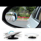 Zantec 2 PCS Blind Spot Mirror Round HD Convex Rear View Mirror