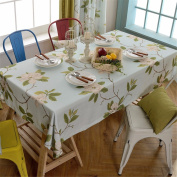130*180cm light blue floral flower table cloth cotton linen French style dining table desk rectangular square Non-ironing eco-friendly garden table runner
