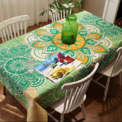 DZW Cotton Linen DIY Pattern Style Rectangular Tablecloth Elegance to any Accasion or Special Eve , 140*180cm , B,Cost-effective