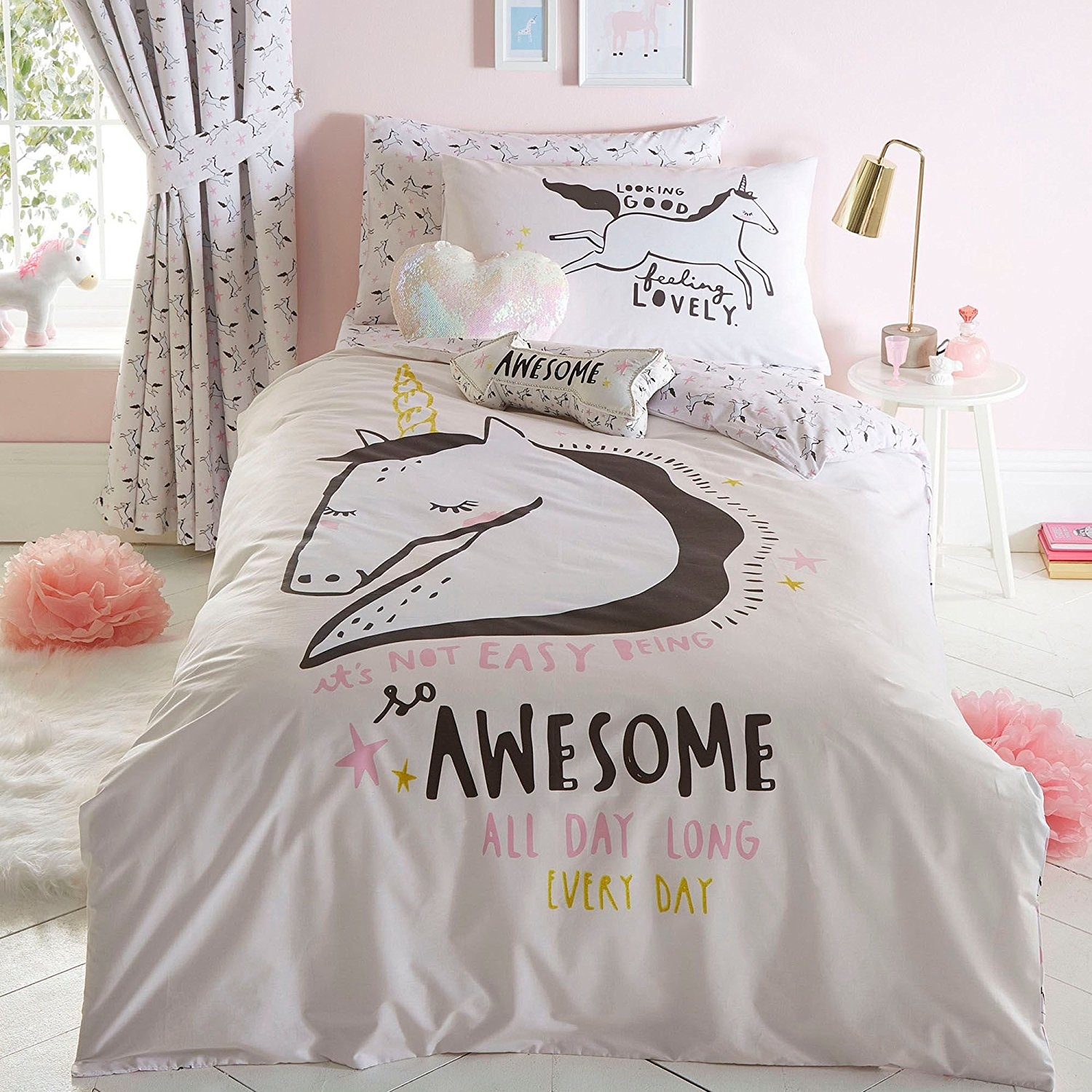 bed updated adjusted pastel unicorn piece bedding set fashions home comforter pegasus twin brightness bt listings beatrice