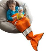 Mermaid Tail Blankets,AIDUE Knitting Mermaid Wrap Sofa Blanket Quilt Kids Blanket Sleeping Bag For Boys and Grils