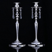 GFEI High-end European crystal candlestick Pendant / romantic Candle Candlestick restaurant Decoration Kit
