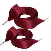 One Pair Satin Tie Shoelaces Shoe Laces Shoe Decoration W2CMxL120CM#16