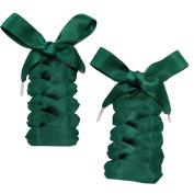 One Pair Satin Tie Shoelaces Shoe Laces Shoe Decoration W2CMxL120CM#18