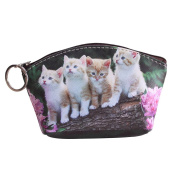 AAA226 Pet Dog Cat Pattern Faux Leather Clutch Short Wallet Coin Purse Gift Charming