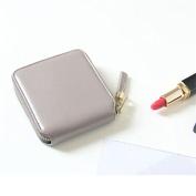 Good01 Women Tassel Pendant Small Pure Colour Bifold Zipper Purse Card Holder Wallet