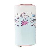 Girl Cartoon Unicorn Wallet Faux Leather Long Clutch Purse Cash Card Holder
