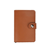 Good01 Multifunctional Faux Leather Solid Colour Credit Card Holder Hasp Closure Cash Holder