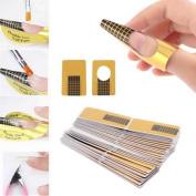 PLOT 100Pcs Nail Art Tips Extension Forms Guide French DIY Tool Acrylic UV Gel