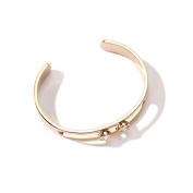Women's Simple Hollow Bracelet, Metal Diamond Jewellery, Adjustable Size