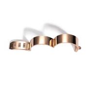 Plated 18k Rose Gold Bracelet, Women's Smooth Titanium Steel Bracelet, Adjustable Size