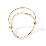 Alloy Ring Hollow Bracelet, Suitable for Hand Circumference 14-16.5cm