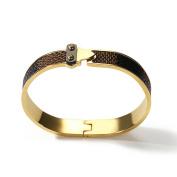 Fashion Women Plated 18K Colour Gold Titanium Steel Bracelet, Suitable for Hand Circumference 13.5-16.5cm