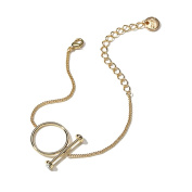 Fashion Geometric Round Bracelet, Alloy Material, Length 22cm , Include 7cm Extension Chain