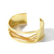 Female Hollow Bracelet, Plated Colour Gold Adjustable Size Bracelet