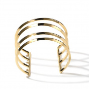 Women Plated 18k Colour Gold Bracelet, Hollow Couple Wide Bracelet