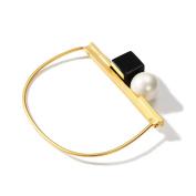 Irregular Shape Fashion Bracelet, Women's Imitation Pearl Bracelet
