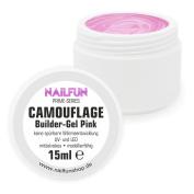 Nailfun Prime Builder Gel Pink [Camouflage] UV & LED Gel Medium Viscosity – Perfect for Baby Boomer – No Good Heat