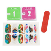 sourcingmap® 5 Sets Multicolor Shiny Full Cover Adhesive Nail Art Stickers Manicure Nails Salon Tips Decals