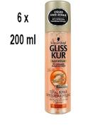 '6 x Gliss Kur Express Repair Conditioner Total Repair For Dry, Damaged Hair 200 Ml