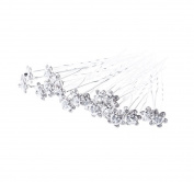 1 hair flower brooch pin Wedding Hair Accessories – Silver