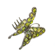 rougecaramel – Rust – Crab Butterfly Hair Clip and Hair Accessories – Green
