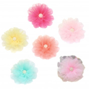 iTemer 6pcs Lovely Flower Cluster Hair Clips Barrettes Clip Alligator Hairpins For Baby Girl Kids Headwear Accessories