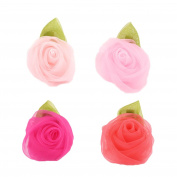 iTemer 4pcs Lovely Rose Flower Hairpin Hair Clip Alligator Hair Barrettes Clip for Children, Teen Girls and Women