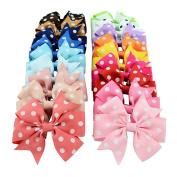 iTemer 20PCS Cute Big Bow Hairpins Hair Clips Dot Patterns Alligator Clips Accessories for Baby Girls Children(Random Colour)