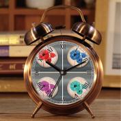 Alarm Clock, Retro Portable Twin Bell Beside Alarm Clocks with Nightlight 542.poppy fridge magnet poppy flower magnet poppies decor