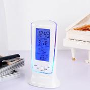 ZHUOTOP Digital LCD Alarm Clock Multi-function Display Calendar Blue LED Backlight Alarm Clocks