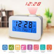 Digital Alarm Clock LED Digital Alarm Clock Projection Clocks Display Time, Date, Week and Temperature