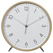Hama Wooden Wall Clock, Quiet Clock, White/Natural, Wood, wood, 25.20 x 23.30 x 05.00 cm