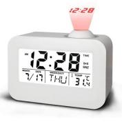 SorlivaTalking Projection Clock,Voice Control/LED Night Light/Alarm Clock