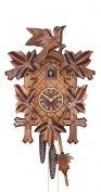 Cuckoo Clock Five leaves with bird, 8 day running time, walnut