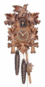 Cuckoo Clock Five leaves with bird, 1 day running time, walnut