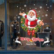 Christmas Xmas Wall Sticker,LEvifun Cute Santa Removable Vinyl Art Wall Sticker Window Door Home Decals Decor Decoration,50*70cm