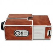 Creative High Brightness Cardboard Mobilephone Projector 2.0 Brown Simple Installation Version for DIY Project