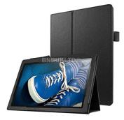 BNBUKLTD® Black Leather Folio Case Stand Cover For Lenovo Tab 3 26cm Tablet TB-X103F