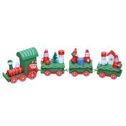 E-Bestar Wooden Christmas Xmas Train Toys Decoration Decor Gift