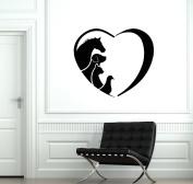 I Love Animal Pet Cat Dog Horse Wall Vinyl Decal Living Room Baby's Bedroom Nursery Wall Decoration
