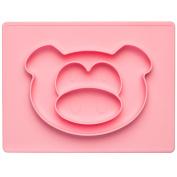 Child's Plate Baby Essmatte Silicone Essunterlage Place Mat Non-Slip Solid Baby Plates, Silicone, Pink, Ferkel