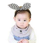 Fixuk Newborn Infant Soft Cotton Baby Boy Girl Cute Bibs Cartoon Bear Saliva Towel