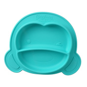 MagiDeal Babies Highchair Feeding Tray Silicone Suction Placemat for Children Kids Toddlers Kitchen Dining Table Plate Bowl - Blue, As Described