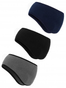 3 Pieces Ear Warmer Headband Winter Headbands Fleece Headband for Men and Women