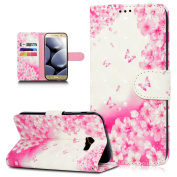 Galaxy A3 2017 Case,Galaxy A3 2017 Cover,ikasus 3D Colourful Art Painted Painting Pattern Premium PU Leather Fold Wallet Pouch Case Wallet Flip Cover Bookstyle Magnetic Closure with Card Slots & Stand Function Protective Case Cover for Samsung Galaxy A ..